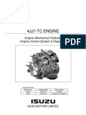 Motor 4jj1-Tc Nkr 85 | Throttle | Fuel Injection