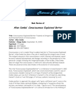 Marcus T. Anthony- Book Review of Allan Combs' Consciousness Explained Better