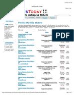 Florida Marlins Baseball Schedule Dates & Event Tickets (Clickable Links)