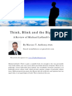 Marcus T. Anthony- Think, Blink and the Big Stink