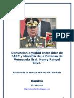 Denuncian amistad entre líder de FARC y Ministro de la Defensa de Venezuela Gral