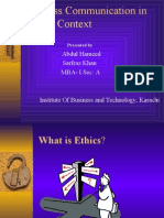 Business Communication in Ethical Context