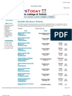 Seattle Mariners Baseball Schedule Dates & Event Tickets (Clickable Links)