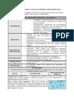 Modelo de Sesion y Ficha Actividades Para Supuestos