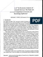 Stein - Discussion of 'an Economic Analysis of Audit and Nonaudit Services