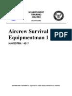 US Navy Course NAVEDTRA 14217 - Aircrew Survival Equipment Man 1&C