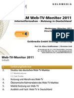 Web-TV-Monitor 2011 Goldmedia Short