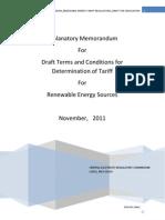 Ex Memo RE Tariff Regulation 2012 17