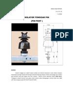 Isolator Tonggak Pin