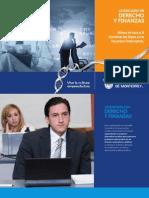Folleto de la Carrera de Derecho y Finanzas (LDF11)