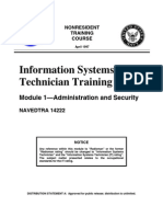 US Navy Course NAVEDTRA 14222 - Information Systems Technician Training Series Module 1 Administr