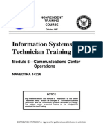US Navy Course NAVEDTRA 14226 - Information Systems Technician Training Series Module 5 Communica