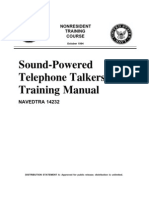 US Navy Course NAVEDTRA 14232 - Sound-Powered Telephone Talkers' Training Manual