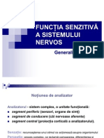 Functia Senzitiva a Sistemului Nervos