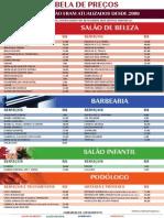 Tabela Precos Salao Beleza