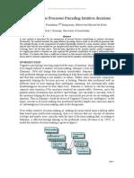 Dick J. Bierman- Non Conscious Processes Preceding Intuitive decisions