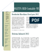 Boletin RED Contable MX Año 01 No 01 (2012 01)