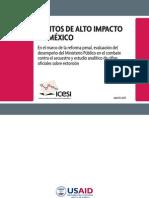 Delitos de alto impacto. Análisis del secuestro y la extorsión en México