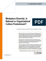 Denison Consulting Workplace Diversity is National or Organizational Culture Predominant