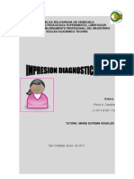 EVALUACION DEL EDUCANDO CON DIFICULTAD DEL APRENDIZAJE  IMPRESION DIAGNOSTICA 14-01-12