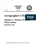 US Navy Course NAVEDTRA 14269 - Aerographer's Mate Module 1-Surface Weather Observations