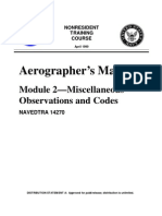 US Navy Course NAVEDTRA 14270 - Aerographer's Mate Module 2-Miscellaneous Observations and Codes