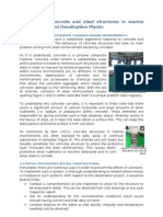 Durability of Concrete and Steel Structures in Marine Environments and Desalination Plants