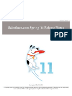 Sales Force Spring11 Release Notes