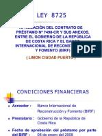 Presentación Limón Ciudad Puerto. Ley 8725