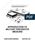 US Army Medical Course MD0008-100 - Introduction to Military Preventive Medicine
