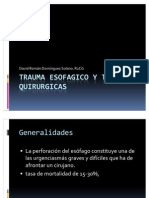 Trauma Esofagico y Tecnicas Quirurgicas