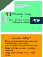 Penulisan Dialog - Penerangan Mengenai Dialog
