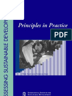 Assesing Sustainable Development;Principle in Practice