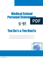 Medical School Personal Statement Do's & Don'ts