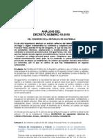 Comentarios Al Decreto 18 2010 Del Congreso de La Rep