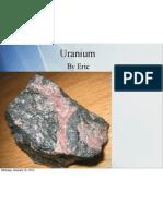 uranium pdf presentation eric