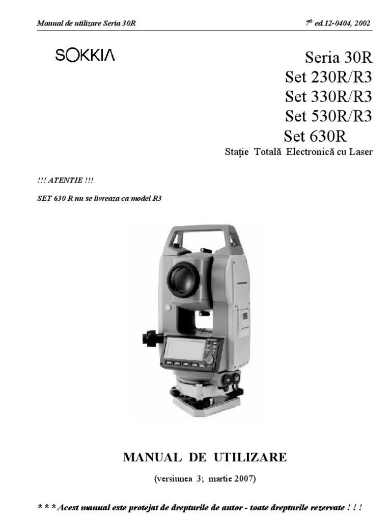Manual Statie Sokkia.