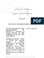 Full Text of the Reply of CJ Corona to the Impeachment Complaint