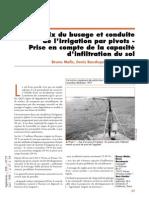 57212845 Choix Du Busage Et Conduite de l Irrigation Par Pivots Prise en Compte de La Capacite d Infiltration Du Sol