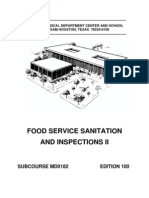US Army Medical Course MD0182-100 - Food Service Sanitation and Inspections II