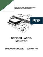 US Army Medical Course MD0362-100 - Defibrillator Monitor