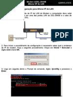 D-Link DSL-2640B - Alterar o IP Da Rede Tutorial)