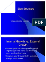 Size Structure Business Environment
