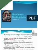 Lesson 1 the Church
