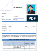 Personal Particulars