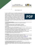 EDITAL CONCURSO UTFPR