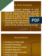 Break Even Analysis and Profit Planning