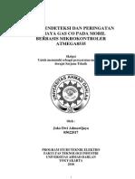 AlatPendeteksiDanPeringatanBahayaGas CO Pd Mobil Berbasis At Mega 8535