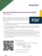 Enterprise 2.0 Workplace Performance Program EWPP - Basisprogramm