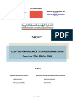 Rapport Audit Performance Exercice 2008